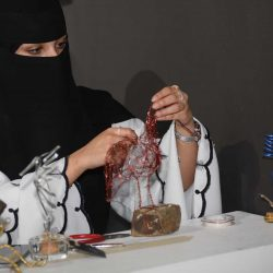 "A Lady Travels 1500 km by Land to Participate in ""Hakaya Misk"" at Tabuk"